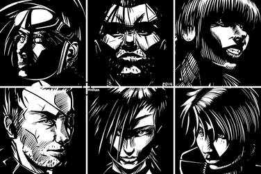 6 monochromatic faces by Tralkan