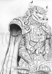 Minotaur Knight by toganthus