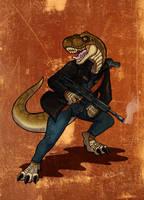Tyrannus Gunner silver-ray ver by CobraCalhoun