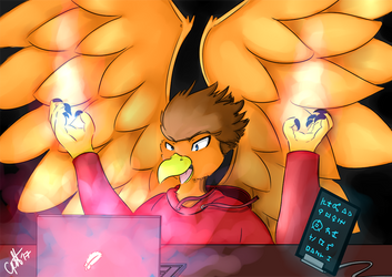 Goldwing Enchanting a Laptop by betterwatchit