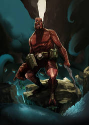 Hellboy(1) by popia