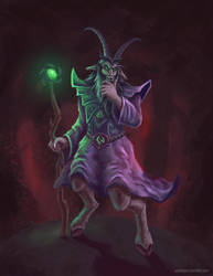 Satyr warlock by goodsirxv