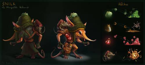 Beyond the End - Snilk, the Mongrelfolk Alchemist by goodsirxv
