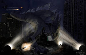Godzilla by JonnYRob