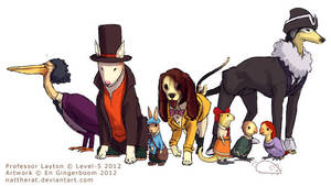 Canine Layton and the Eternal Birdsong by nattherat
