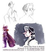 Tiny sketchdump - Sofia the First by nattherat