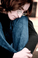 John Lennon Thinking by Applescruffgirl