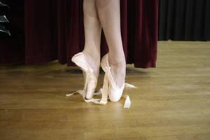 Pointe Undone Ballett Shoes by GreenEyezz-stock