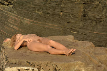 Draco Sleeping on the Rock by rasmus-art