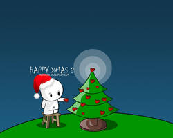 Happy Xmas - Wallpaper by pincel3d