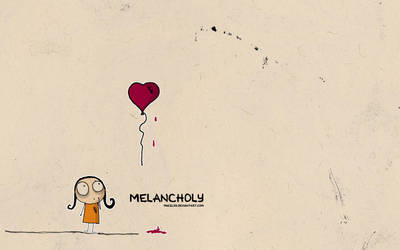 Melancholy girl ink by pincel3d
