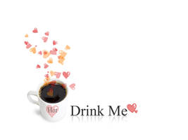 Drink Me - Version Coffee by pincel3d