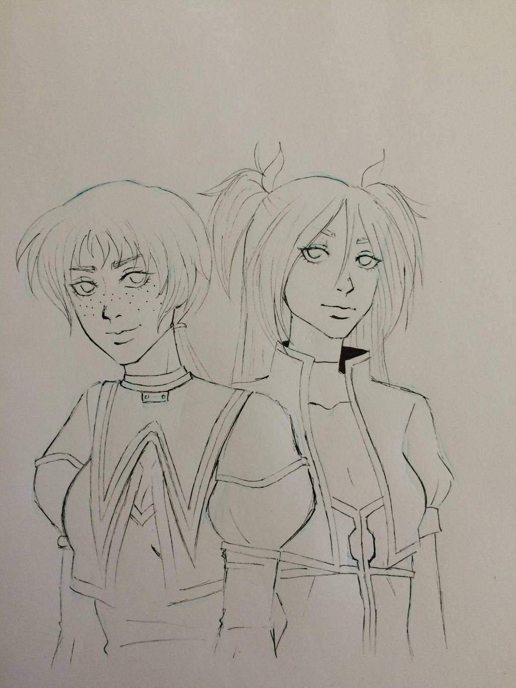 Shin and Ken by Yasm1806