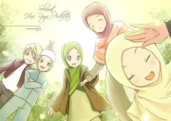 happy eid by kuzuryo