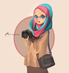 random muslimah 10 by kuzuryo