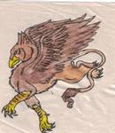 Griffin doodle by Kali-Balekrone