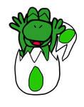Hatched Yoshi, So Happy by JackitK