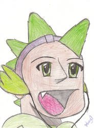 Spike Drawn as a Human by xXEpic24Xx