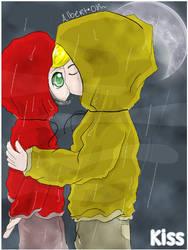 Kiss in the rain by ruperupert