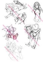 Sketch/art dump -2 by Techycutie