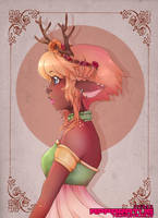 Fawna- Original Print by Techycutie