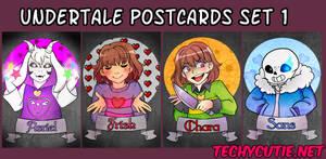 Undertale Postcard Set 1 by Techycutie