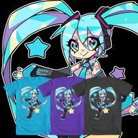 Digital Star Hatsune Miku- We Love Fine Shirt by Techycutie