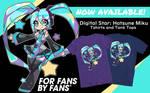 Digital Star Hatsune Miku- Official Shirt by Techycutie