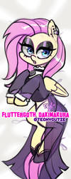 [WIP-SKETCH] Fluttergoth Dakimakura by Techycutie