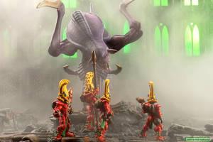 Eldar Fire Dragons vs Tyranid by volkerheide
