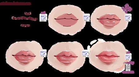 lips tutorial by mirukawa