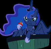 Luna Eating an Apple by supermatt314