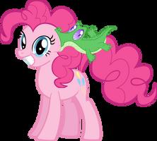 Pinkie Pie and Gummy by supermatt314