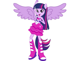 Twilight Sparkle Dance Vector Now With Wings by DipperBronyPines98