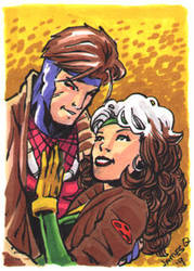 Gambit and Rogue by jamesq