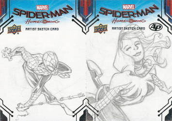 Spider-Man-Gwen Upper Deck Sketch Card Pencils by jamesq
