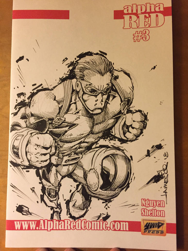 Alpha Red Sketch Cover by jamesq