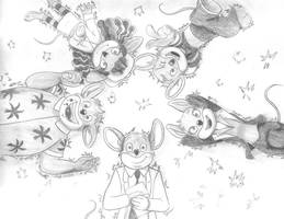 Five Mouse Band by lalunafelis