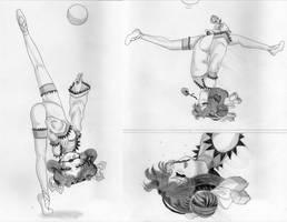Ball routine detail by lalunafelis