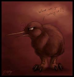 Bad Mood Kiwi by DolphyDolphiana