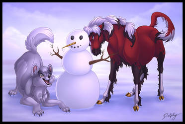 Let's build a snowman by DolphyDolphiana