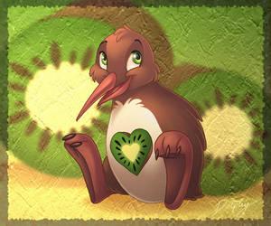 Kiwi Heart by DolphyDolphiana