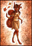 Autumn Squirrel by DolphyDolphiana