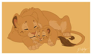 Lioness and Cub by DolphyDolphiana