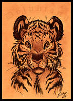 Tiger Portrait by DolphyDolphiana