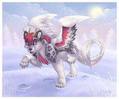 Pawprints in the Snow by DolphyDolphiana