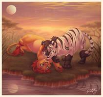 Twilight Snuggling by DolphyDolphiana