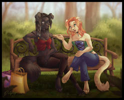 Chatting in the Park by DolphyDolphiana