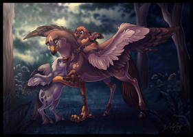 Hippogriff Family by DolphyDolphiana