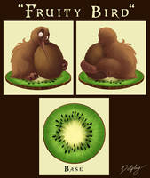 Fruity Bird - Sculpture Design by DolphyDolphiana